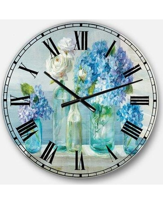 East Urban Home Oversized Flowers Bouquets Wall Clock EBIC3351 Size: Medium