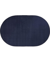 """Flagship Carpets Americolors Navy Area Rug, Nylon in Blue, Size Oval 7'6"""" x 12' 