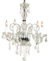 Pangea Home 5-Light Candle Style Classic / Traditional Chandelier KRYSTAL-CH Color: Clear