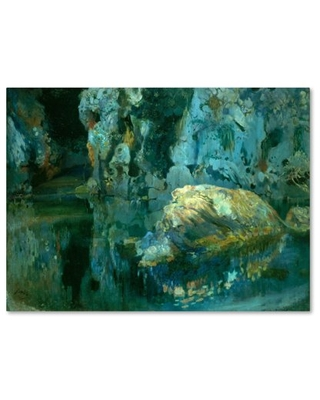 Trademark Fine Art 'The Rock In The Pond' Canvas Art by Joaquim Mir