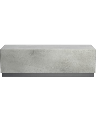 Lucca Concrete Outdoor Rectangle Coffee Table