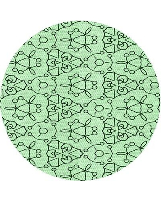 East Urban Home Abstract Wool Green Area Rug W002537702 Rug Size: Round 4'