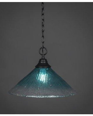 "Red Barrel Studio Sorenson 1-Light Mini Pendant RBSD2725 Size: 10.5"" H x 16"" W Shade Color: Teal"