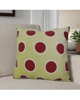 """The Holiday Aisle Holiday Bubbly Throw Pillow HLDY1536 Size: 20"""" H x 20"""" W, Color: Light Green"""