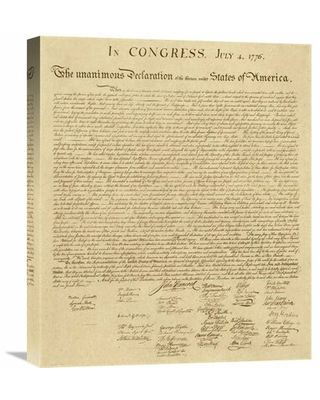 U.S. Declaration of Independence - Decorative Sepia by U.S. Government - Wrapped Canvas Textual Art Print