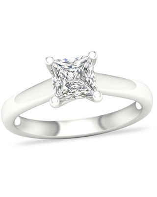 Jared Diamond Solitaire Ring 1-1/4 ct tw Princess-cut 14K White Gold