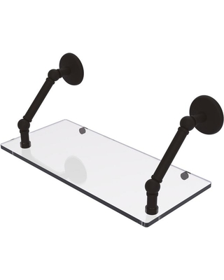 Allied Brass Prestige Monte Carlo Collection 18 in. Floating Glass Shelf in Oil Rubbed Bronze