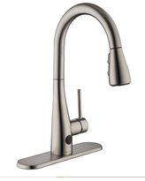 Great Deal On Glacier Bay Statham Single Handle Coil Spring Neck Kitchen Faucet With Turbospray And Fastmount In Stainless Steel Silver