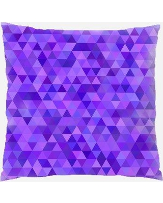 Rug Tycoon Throw Pillow PW-purple-2484167 / PW-triangle-2499633 Color: Purple