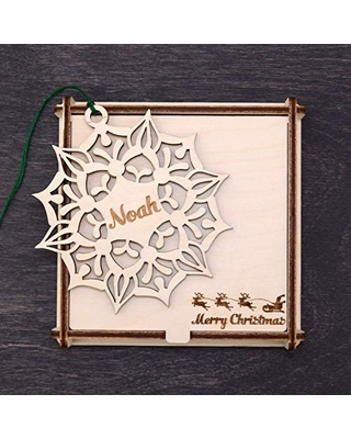 Engraved Christmas Gifts - Christmas Decorations Personalized, Wooden Christmas Decor, Xmas Ornaments, Custom Christmas Tree Ornament