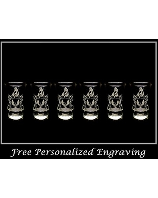 Dunne Irish Family Coat of Arms Shot Glass 2oz Set of 6 - Free Personalized Engraving