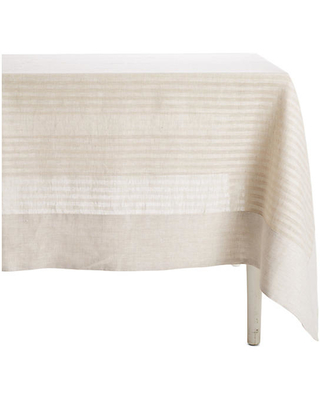 """Greenwich Wine-Resistant Tablecloth - Beige - Mode Living - 70""""x108"""""""