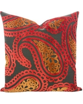 Darby Home Co Malick Velvet Throw Pillow DBHC6562 Color: Atomic