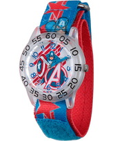 Marvel Boys Blue And Silver Tone Avengers Assemble Time Teacher Plastic Strap Watch W003222, One Size