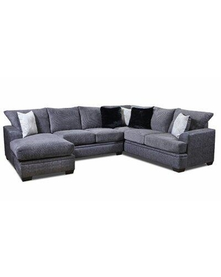 Red Barrel Studio Streator Left Hand Facing Sofa Sectional W000899510 Upholstery Color: Akan Graphite Orientation: Right Hand Facing