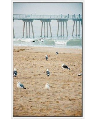 "Highland Dunes 'Seagull Coast' Photographic Print BI163551 Size: 33.5"" H x 21.5"" W x 2"" D Format: Floater Frame"