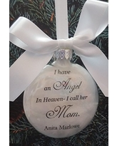 In Memory Mother Memorial Ornament Angel in Heaven I call her Mom Personalized Keepsake Sympathy Gift