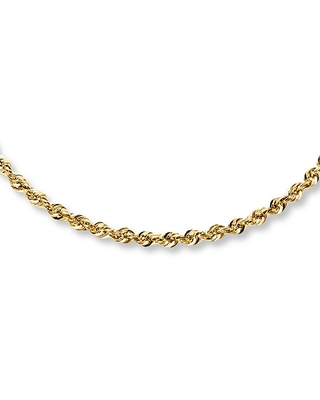 Rope Necklace 14K Yellow Gold 22 Length