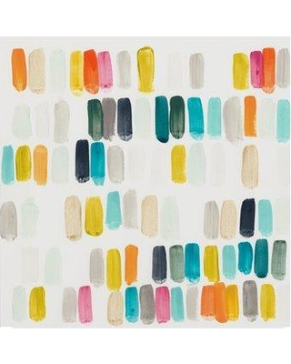 """East Urban Home 'Bright Swatches I' Acrylic Painting Print on Wrapped Canvas W000687230 Size: 24"""" H x 24"""" W x 2"""" D"""