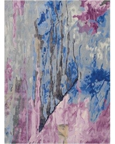 """Latitude Run Machen Hand-Tufted Blue/Pink Area Rug BF032400 Rug Size: Rectangle 5'6"""" x 7'5"""""""