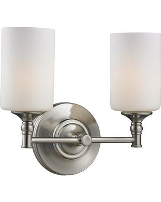 Get This Deal On Charlton Home Eichhorn 2 Light Dimmable Vanity Light Disi3632 Finish Brushed Nickel