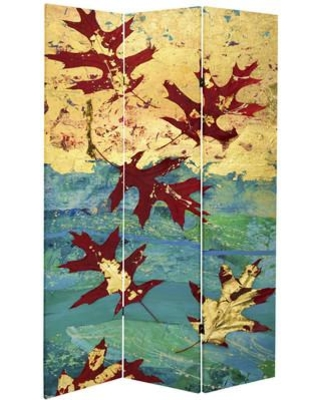Millwood Pines Ouida Autumn Leaves 3 Panel Room Divider NMXQ4728