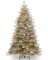 Sierra 7.5' Green/White Spruce Artificial Christmas Tree with 750 Clear/White Lights