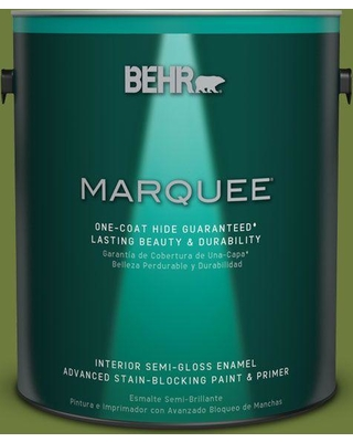 BEHR MARQUEE 1 gal. Home Decorators Collection #HDC-SM16-11 Hot Dog Relish Semi-Gloss Enamel Interior Paint & Primer