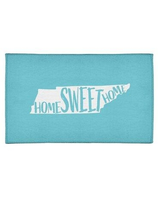 New Deal On East Urban Home Home Sweet Tennessee Poly Chenille Rug Chenille In Blue Teal Size Rectangle 8 X 10 Wayfair 08f8b9cbbf964565a47272381628491f