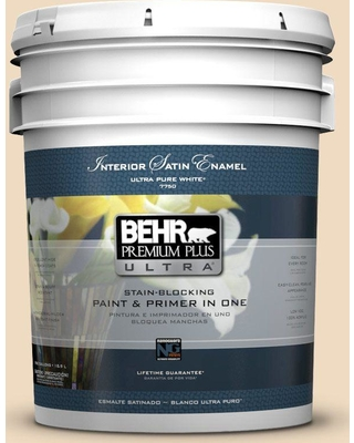 BEHR Premium Plus Ultra 5 gal. #bxc-74 Phoenix Villa Satin Enamel Interior Paint and Primer in One