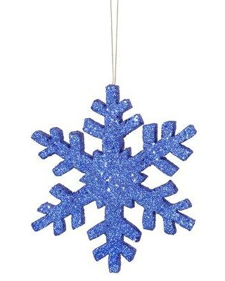 """The Holiday Aisle Outdoor Snowflake Holiday Shaped Ornament IMEZ4858 Size: 8"""" H x 8"""" W x 0.5"""" D Color: Blue"""