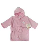 Neat Solutions Infant Hooded Bath Robe - Unicorn, Pink (HR36)