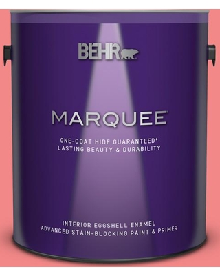 BEHR MARQUEE 1 gal. #150B-5 Cheery Eggshell Enamel Interior Paint and Primer in One