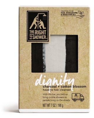 The Right To Shower Dignity Shampoo Bar & Bar Soap Charcoal and Cotton Blossom, 7 oz