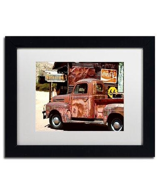 Check Out Deals On Trademark Fine Art Us Truck Framed Photographic Print Matte Canvas Fabric In Black Size 11 H X 14 W X 0 5 D Wayfair Ph0268 B1114bmf