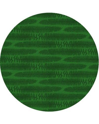 East Urban Home McMillan Wool Green Area Rug X111584151 Rug Size: Round 4'