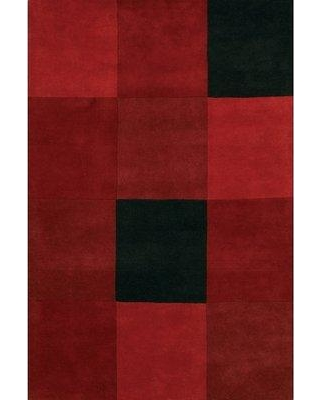"""17 Stories Laurent Red/Black Area Rug STSS6435 Rug Size: Rectangle 5' x 7'6"""""""