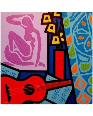 """Trademark Art 'Homage to Matisse 11' Graphic Art Print on Wrapped Canvas ALI37027-CGG Size: 18"""" H x 18"""" W x 2"""" D"""