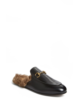 7148aa5cb40 Amazing Deal on Women s Gucci Princetown Genuine Shearling Loafer ...