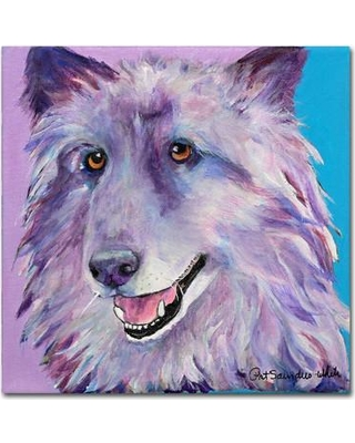 """Trademark Fine Art """"Puppy Dog"""" by Pat Saunders Framed Painting Print on Wrapped Canvas PS114-C Size: 18"""" H x 19"""" W x 2"""" D"""
