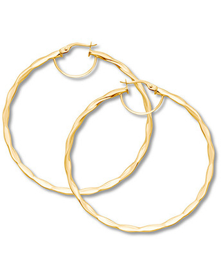 ddcb0d3415a45 Check Out These Major Deals on Round 50mm Hoop Earrings 10K Yellow Gold