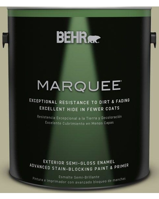 BEHR MARQUEE 1 gal. #PPU9-20 Dill Seed Semi-Gloss Enamel Exterior Paint and Primer in One