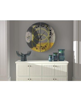 East Urban Home Oversized Welton Wall Clock W002478047 Size: Large