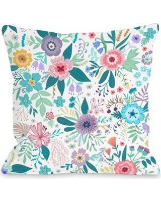 """The Holiday Aisle Happy Easter Balloon Throw Pillow THLA1406 Size: 18"""" H x 18"""" W x 3"""" D"""