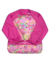 green spouts® by i play® Snap & Go 2-4T Long Sleeve Bib in Pink Floral