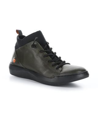 Softinos by Fly London Biel Sneaker, Size 5.5Us in 026 Army/Black Smooth at Nordstrom