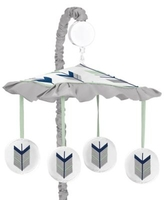 Sweet Jojo Designs® Mod Arrow Musical Mobile in Navy/Mint