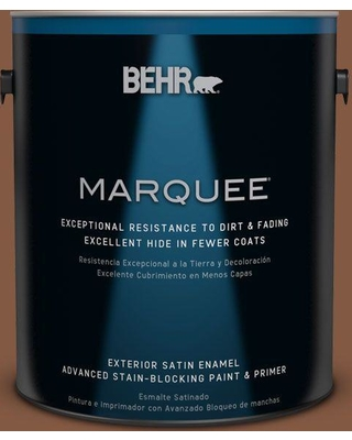 BEHR MARQUEE 1 gal. #bxc-42 Bricktone Satin Enamel Exterior Paint and Primer in One
