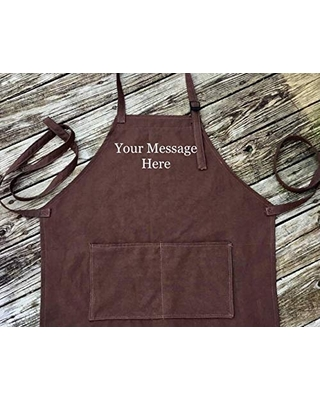 Personalized Embroidered handmade unisex Apron-Mens Grilling APRON-Women's cooking apron-Outdoor cooking-Kitchen apron-Chef apron-personal Work