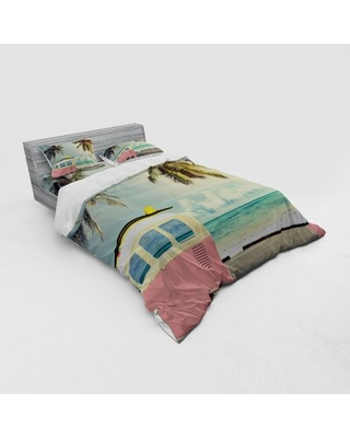 Surf Duvet Cover Set East Urban Home Size: Queen Duvet Cover + 3 Additional Pieces